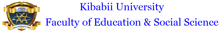 Kibabii University Faculty of Education and Social Science