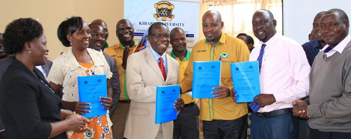Signing of MoU between Kibabii University and Kenya Union of Post- Primary Education Teachers (KUPPET) Slider (Copy)